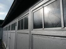 Architektur von generischen Garagen Lizenzfreie Stockfotos