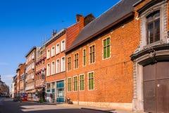Architektur von Löwen, Belgien Stockbild