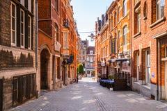 Architektur von Löwen, Belgien Stockfotografie