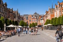 Architektur von Löwen, Belgien Lizenzfreie Stockfotografie