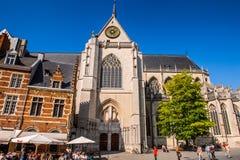Architektur von Löwen, Belgien Stockfoto