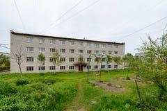 Architektur von Magada, Russische Föderation Stockfotos