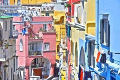 Architektur von Procida-Insel, Kampanien, Italien lizenzfreies stockbild