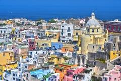 Architektur von Procida-Insel, Kampanien, Italien lizenzfreie stockfotos