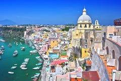 Architektur von Procida-Insel, Kampanien, Italien stockbilder