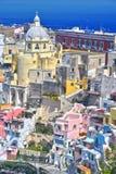 Architektur von Procida-Insel, Kampanien, Italien stockbild