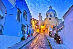 Architektur von Procida-Insel, Kampanien, Italien stockfotos