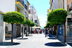 Architektur von San Pedro de Alcantara, Costa del Sol, Spanien Lizenzfreies Stockbild