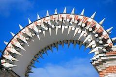 Architektur von Tsaritsyno-Park in Moskau Stockfoto