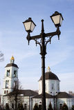 Architektur von Tsaritsyno-Park in Moskau Farbfoto Lizenzfreie Stockfotos