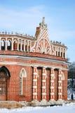 Architektur von Tsaritsyno-Park in Moskau Farbfoto Lizenzfreies Stockfoto