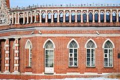 Architektur von Tsaritsyno-Park in Moskau Farbfoto Lizenzfreies Stockbild