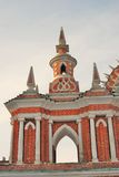 Architektur von Tsaritsyno-Park in Moskau Farbfoto Stockfotos
