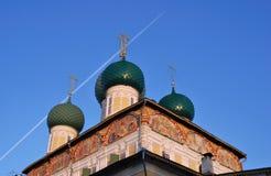 Architektur von Tutaev-Stadt, Russland Lizenzfreie Stockfotografie
