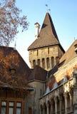 Architektur von Vajdahunyad-Schloss Lizenzfreies Stockfoto