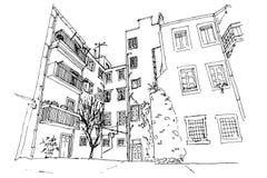 Architektur von Zadar, Kroatien stock abbildung