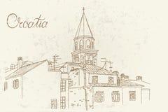 Architektur von Zadar, Kroatien lizenzfreie abbildung