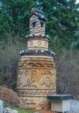 Architektur in Waujeongsa-Tempel Lizenzfreie Stockfotos