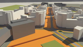 Architektura (3d rendering) Zdjęcie Royalty Free