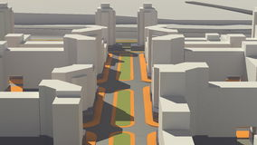 Architektura (3d rendering) Zdjęcia Royalty Free