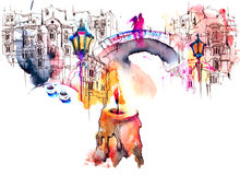 architektura royalty ilustracja
