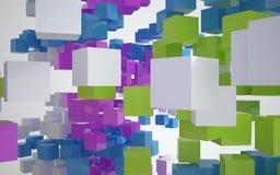 architektura abstrakcjonistyczny kolor Zdjęcia Royalty Free