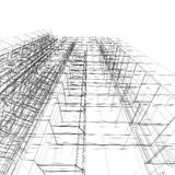 architektura abstrakcyjna Fotografia Royalty Free