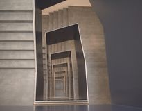 Architektura, abstrakt, schody, Niemcy Fotografia Royalty Free