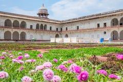 Architektura Agra fort i ogród, Agra miasto, India Zdjęcia Stock