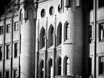 architektura Artystyczny spojrzenie w czarny i biały Zdjęcie Royalty Free