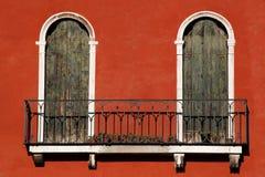 architektura balkonowy Italy Venice Zdjęcie Stock