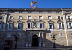 architektura Barcelona Catalunya De Generalitat mieści losu angeles punkt zwrotny biur pałac Palau prezydentury Zdjęcia Stock