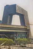 Architektura Beijing zakrywał w smogu Obrazy Royalty Free