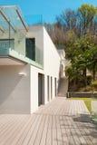 Architektura, bielu dom, plenerowy Obraz Royalty Free