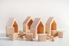 architektura budynku budowy środowiska w domu drewnianego mieszkaniowy przyjacielski Zdjęcia Royalty Free