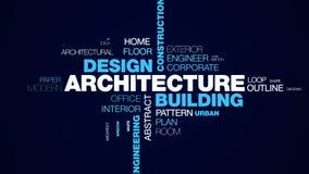 Architektura budynku projekta budowy struktury technologii projekta miasta inżynierii biznesowy pojęcie animował słowo royalty ilustracja