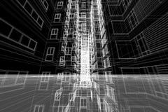 Architektura budynku struktury 3d rysunkowa ilustracja Zdjęcie Stock