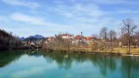 Architektura Fussen. Niemcy Zdjęcia Royalty Free