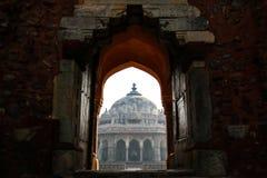 Architektura Humayun ` s grobowiec w Delhi Obrazy Stock