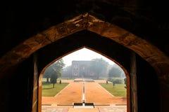 Architektura Humayun ` s grobowiec w Delhi Fotografia Royalty Free