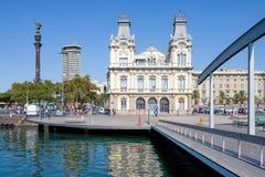 Architektura i sztuka w Barcelona obrazy royalty free