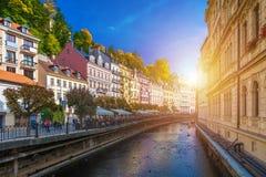 Architektura Karlovy Zmienia Karlsbad, republika czech Ja jest t Obrazy Royalty Free