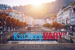 Architektura Karlovy Zmienia Karlsbad, republika czech Ja jest t Fotografia Royalty Free