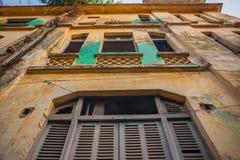 Architektura kolonista Phnom Penh, Kambodża zdjęcie royalty free