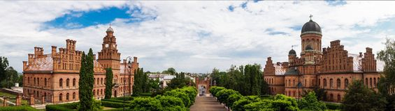 Architektura Krajowa siedziba metropolita w Chernivtsi i uniwersytet, Ukraina zdjęcia stock