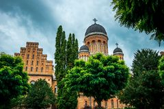 Architektura Krajowa siedziba metropolita w Chernivtsi i uniwersytet, Ukraina zdjęcie royalty free