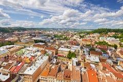 Architektura Lviv Ukraina obrazy stock