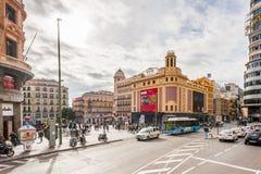 Architektura Madryt, Hiszpania zdjęcie royalty free