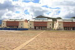 architektura mieszkaniowy stylowy Tibet Zdjęcia Royalty Free