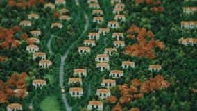 Architektura model chałupy wioska w zielonym lasowym wieś krajobrazie zbiory
